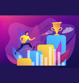 on the way to success concept vector image vector image