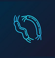 pathogen concept virology blue outline icon vector image vector image