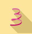 pink serpentine icon flat style vector image vector image