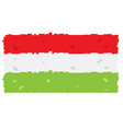 pixelated flag of hungary vector image