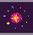 powerful explosion for pixel game vector image vector image