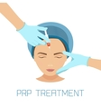 PRP facial treatment vector image vector image