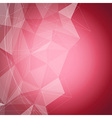 Red shiny crystal structure background vector image vector image