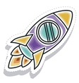 rocket startup launcher isolated icon vector image