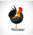 rooster design on white background cock animals vector image