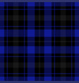 seamless blue black tartan vector image vector image