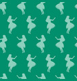 seamless pattern hula dancer silhouettes vector image