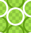 Seamless pattern of circles over checker board vector image vector image