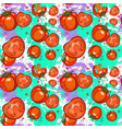 seamless pattern tomato vegetables ornament vector image vector image