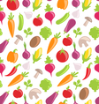 seamless texture colorful vegetables vector image
