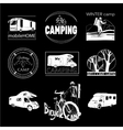 set of camp labels and logo graphics stamp print vector image vector image