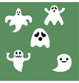 set of halloween ghosts for design isolated on vector image vector image