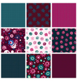 Set of seamless patterns with flowers vector image vector image