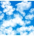 Sky clouds seamless pattern vector image vector image