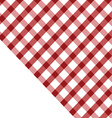tablecloth red and white vector image vector image