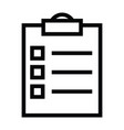 tasklist clipboard icon with outline style vector image vector image