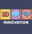 technology and innovation design vector image