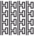tile greek black and white pattern vector image