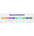 web development infographics design timeline vector image vector image