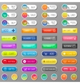 Web shop buttons isolated vector image