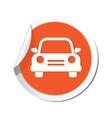 car icon orange sticker vector image