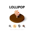 Lollipot icon in different style vector image