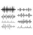 sound waves set audio player audio vector image
