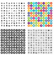 100 insurance company icons set variant vector image vector image