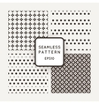 A set of four patterns in monochrome vector image vector image