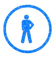audacity person pose rounded grainy icon vector image vector image