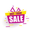 banner mega sale red gift box says sale only today vector image vector image