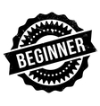 Beginner stamp rubber grunge vector image vector image