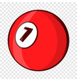 billiard ball icon cartoon style vector image vector image