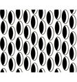 Black and white pattern of ovals vector image