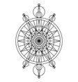 black spiritual mystical line symbol vector image vector image