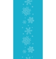 Blue lace snowflakes textile vertical border vector image vector image