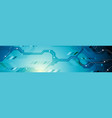 bright blue abstract technology banner design vector image vector image