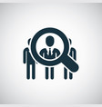 career search icon for web and ui on white vector image
