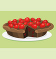 cartoon cake fresh tasty dessert sweet pastry pie vector image