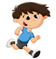 Cartoon kid running vector image