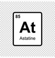 chemical element astatine vector image vector image