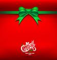 Christmas Green gift bow vector image