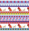 Christmas seamless pattern with Santa vector image vector image