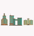 city of skyscrapers building an vector image vector image
