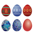 clip-art easter eggs vector image vector image