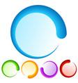 colorful preloader or buffer shapes progress vector image vector image