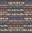Darwin australia seamless pattern