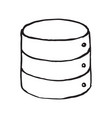 database storage doodle icon vector image