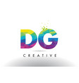 dg d g colorful letter origami triangles design vector image vector image