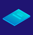digital tablet icon isometric style vector image vector image